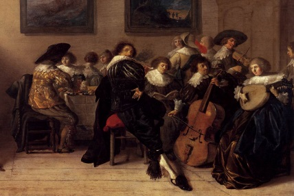 Anthonie Palamedesz: Company Dining and Making Music (1632)